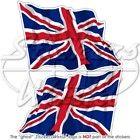 british union jack waving flag uk 3 75mm stickers x2