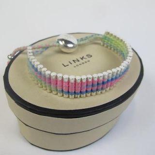 NEW GENUINE Links of London Silver Colour Mix Friendship Bracelet