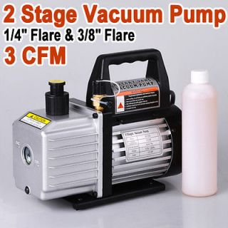 3HP Rotary Vane Deep Vacuum Pump HVAC Tool For AC R410a R134 etc