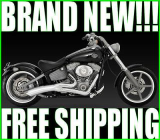 VANCE & HINES BIG RADIUS 2 INTO 1 EXHAUST PIPES PIPE 1986 2011 HARLEY