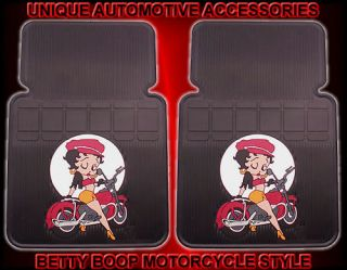 2pc betty boop motorcycle style front car floor mats time