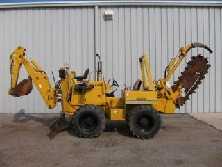 1998 vermeer v8100 riding trencher backhoe dozer blade time left