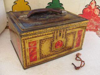 ADV EHS Vintage Blue Bird Toffee Tin Box With Lock System