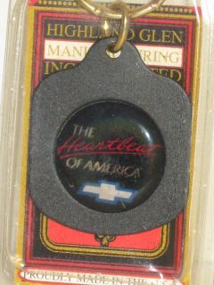 Highland Glen The Heartbeat of America Cheverolet Logo Key Ring