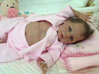 BIRACIAL Reborn Vinyl doll Kit Baby KYRA by Eva Helland Realistic