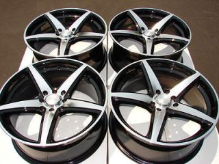 17 4x114.3 4x100 Wheels Black Jetta Golf Passat Tiburon Integra Neon 4
