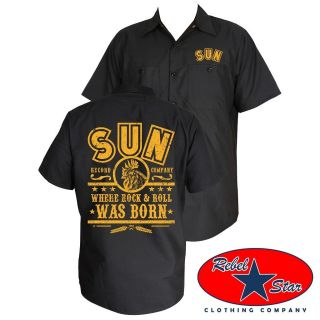 Sun Records Rock N Roll Work Shirt Rockabilly Retro Punk Tattoo Elvis