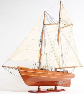 e Americas Cup America Sailboat Wooden Model 24 Built Yacht New