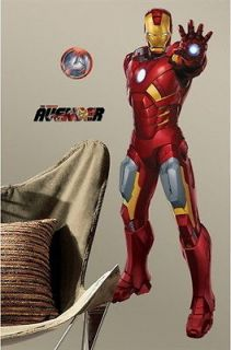 The Avengers Movie Iron Man Giant Peel and Stick Wall Decal NEW SEALED