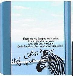 wallpaper graffiti wall vinyl sticker decal zebra life from china