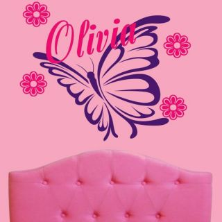 big personalized butterfly name wall decal sticker