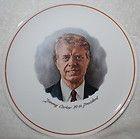 President Jimmy Carter 9 plate, portrait, 39th president