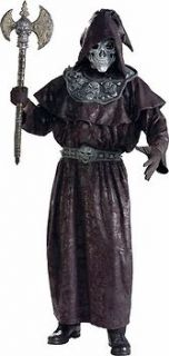 Adult Mens Warlock Warrior Halloween Costume with Latex Mask Standard