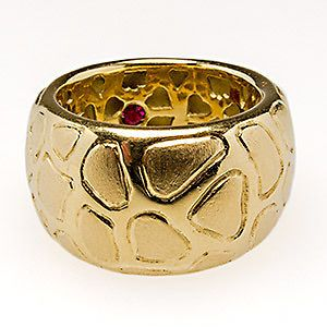 Newly listed Robert Coin Giraffe Motif Wide Band Cocktail Ring Solid