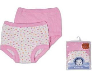 NEW Gerber Training Pants Underwear Girls Size 2T Potty Training