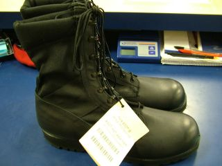 WELLCO US ARMY HOT WEATHER SPIKE PROTECTIVE BLACK JUNGLE BOOTS SZ 16