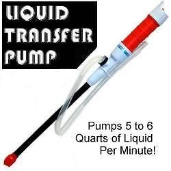 liquid transfer siphon pump battery powered gas oil new time