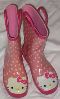 Western Chief Hello Kitty Rain Boots Girls Size 1 Puddle Shoes Pink