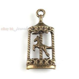 40pcs 142104 Charms Swing Horse Antique Bronze Pendant Findings 32mm