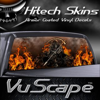 vuscape truck rear window graphic grim reaper
