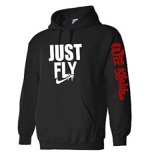 NEW JUST FLY Wiz Khalifa Hooded Sweatshirt TAYLOR GANG OR DIE ymcmb