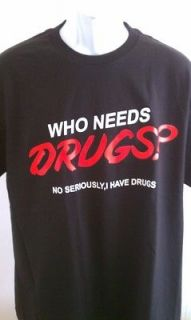 DRUG T SHIRT KUSH POT WEED MARIJUANA NEW SM MED LG XL 2X WIZ KHALIFA