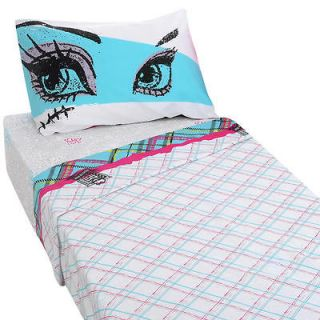 monster high twin sheet set new bedding pillow case one