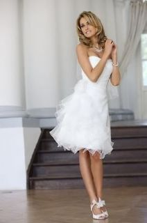 stock White Short Cocktail dress/Prom gown Wedding Dresses Size 6 8 10