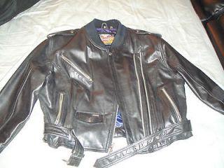 Ladies Women Genuine Leather Harley Davidson Jacket Coat XL VINTAGE