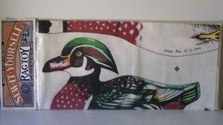 Toy Works sew it yourself fabric wood duck pillow soft sculpture doll