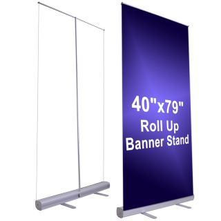 10pc 33x79 Retractable Roll Up Banner Stand Pull Popup Trade Show