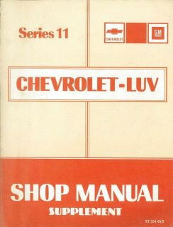 1981 Chevrolet Luv Truck Diesel Engine Service Manual Supplement