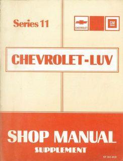 1981 Chevrolet Luv Truck Diesel Engine Service Manual Supplement