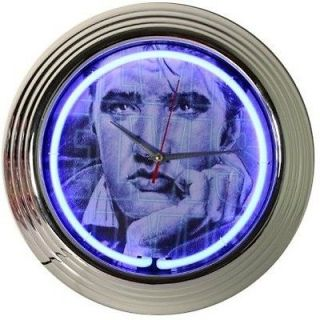New Elvis Presley King Rock Roll Vintage Portrait Blue Bar Sign Neon