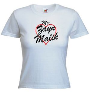 mrs zayn malik t shirt print any name words more
