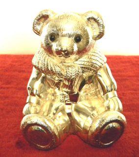 ralph laurens pollo silverplated teddy bear bank