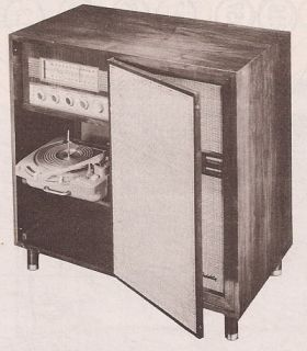 1958 ZENITH CONSOLE service manual photofact HF1290H SCHEMATIC RADIO