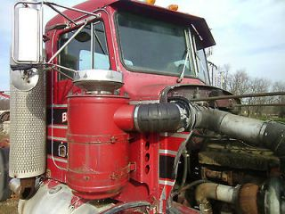 1987 peterbilt 359 day cab cab only hood time left