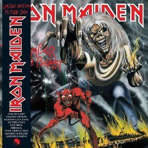 IRON MAIDEN  NUMBER OF THE BEAST LTD EDITION HEAVYWEIGHT VINYL PICTURE