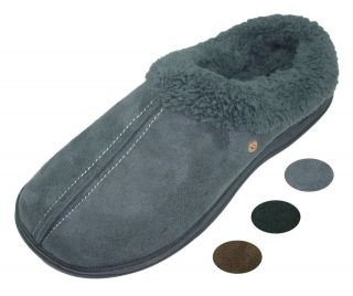 mens scuffs slippers brown black grey all sizes