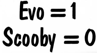 Evo 1 Scooby 0 Novelty Car Sticker/Decal for Mitsubishi Lancer