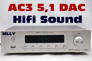 HLLY High End DTS Ac3 5 1 Digit Audio Decoder DAC