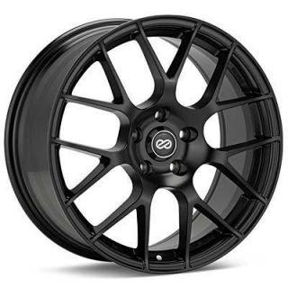 18 Enkei Raijin Black Rims Wheels 18x8 45 5x100 Subaru WRX Impreza
