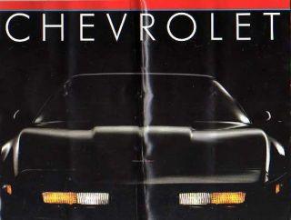 Chevy Car Brochure Catalog Corvette Camaro Cavalier Monte Carlo
