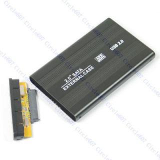 Black USB 2 0 Case Enclosure 2 5 Laptop SATA Hard Drive