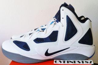 Nike Zoom Hyperfuse 2011 White Navy Blue Hyperdunk+ Men Shoe 2012