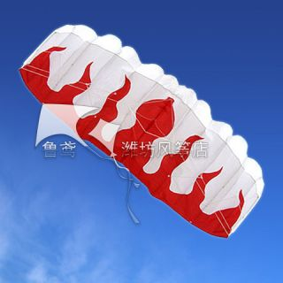 NEW 1 8 m 2 Line Stunt Parafoil POWER Sport Flame Kite outdoor toys