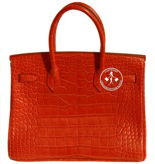 30 Hermes Birkin Bag Matte Sanguine Alligator Palladium 9400R