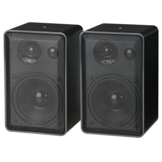 Pair 3 Way Home Indoor/Outdoor/Surround Sound/Bookshelf Speakers Black