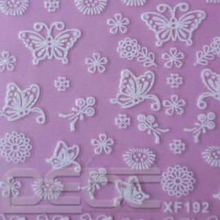 Christmas Wrap 3D Nail 26 Designs Art Stickers Foil Tips Decals Xmas